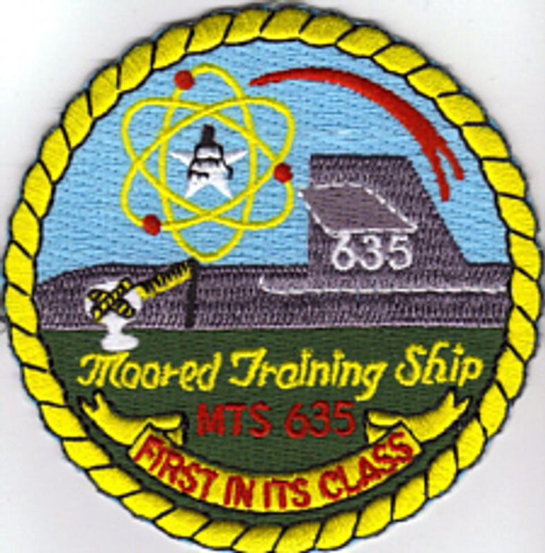 Moored Training Ship MTS 635 at Chas. Ex USS Sam Rayburn patch