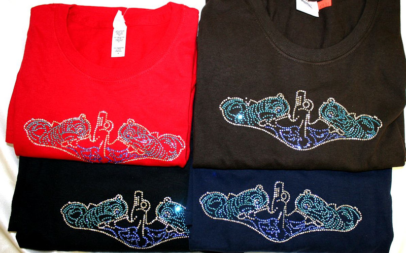Crystal Dolphin Shirts, Crew Neck