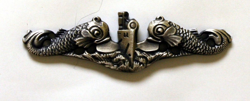 Enlisted Silver Dolphins Anodized Pin-Full Size