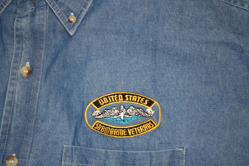 Denim shirts can be custom embroidered with your desired design Boat names Name, Rate, etc.  Just tell us what you want.