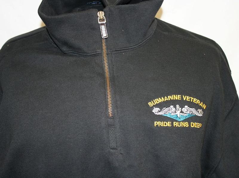 Sweaters--Port Authority: SUBMARINE VETERAN, DOLPHINS Pride Runs Deep