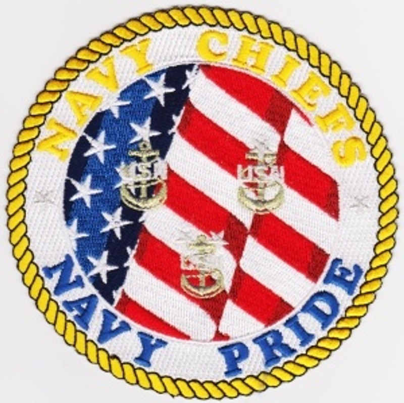 Navy Chiefs, Navy Pride with Flag background