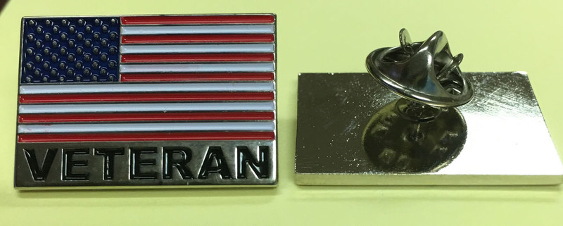 Lapel pin, Veteran Flag Pin.