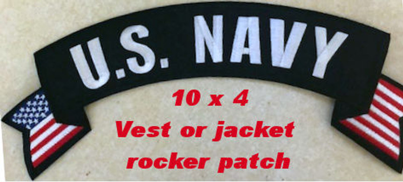 PATCH, US NAVY ROCKER PATCH WITH FLAG