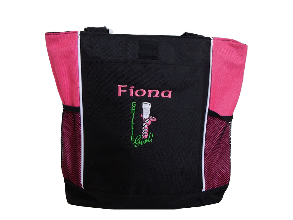 Ghillie Girl Shoes Celtic Irish Dance Ireland Jig Reel Princess HOT TROPICAL PINK Zippered Tote Bag Font Style CELTIC