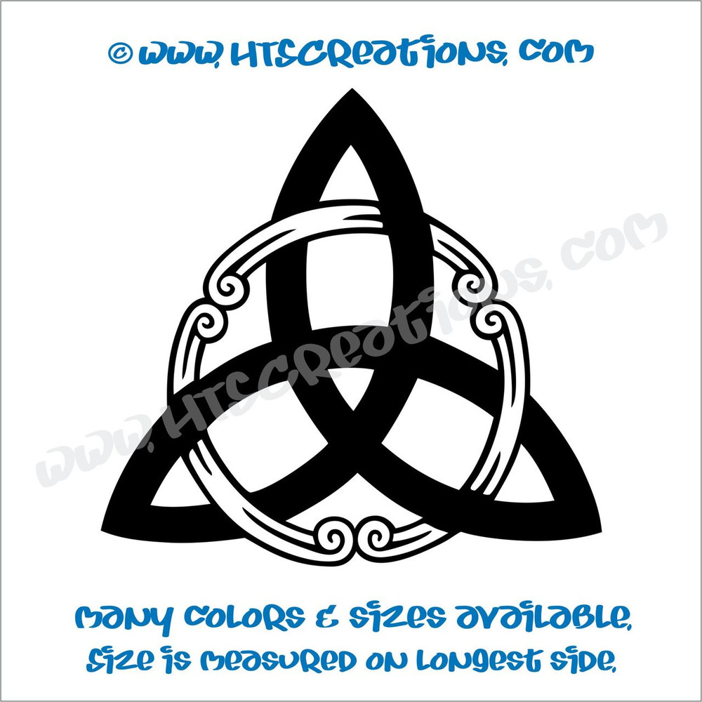 Celtic Trinity Knot Irish Dance Ireland Religious Church Triangle Car Vinyl Decal BLACK