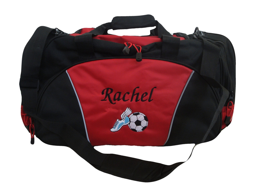 Cross Country XC Winged Track Shoe Running Personalized Embroidered Duffel