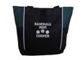 Baseball Softball Sports Team Mom Custom Personalized HUNTER GREEN Tote Bag Font Style VARSITY