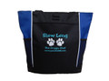 Paw Prints Doggie Chef Dog Groomer Website Advertising Marketing Custom Personalized Embroidered ROYAL BLUE AQUA Tote Bag Font Style Jester