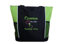 Upside Down Heart Stethoscope Nursing Registered Nurse Oncology RN BSN LIME GREEN Tote Bag Font Style CASUAL SCRIPT and CALLIGRAPHY