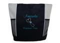 Upside Down Heart Stethoscope Nursing Registered ER Nurse RN Respiratory Therapist STONE Tote Bag Font Style CASUAL SCRIPT