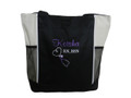Upside Down Heart Stethoscope Nursing Registered Nurse RN BSN STONE Tote Bag Font Style CASUAL SCRIPT