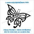 Butterfly Celtic Irish Ireland Religious Church Knot Vinyl Decal BLACK