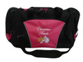 Cross Country XC Winged Track Shoe Running Personalized Embroidered HOT TROPICAL PINK DUFFEL Font Style