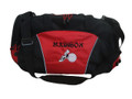 Cross Country XC Winged Track Shoe Running Volleyball Personalized Embroidered RED DUFFEL Font Style MANDARIAN