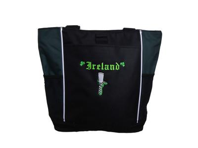 Ghillie Girl Shoes Shamrock Celtic Irish Jig Dance Ireland Reel Princess HUNTER GREEN Zippered Tote Bag Font Style OLDE ENGLISH