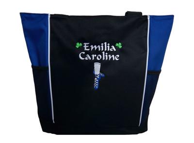 Ghillie Girl Shoes Shamrock Celtic Irish Jig Dance Ireland Reel Princess ROYAL BLUE Zippered Tote Bag Font Style CALLIGRAPHY