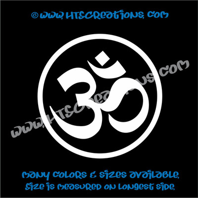 Yoga OM OHM Aum Circle Namaste Symbol Spiritual Vinyl Decal