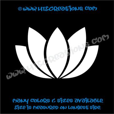 Yoga Lotus Flower OM OHM AUM Namaste Symbol Spiritual Vinyl Decal WHITE