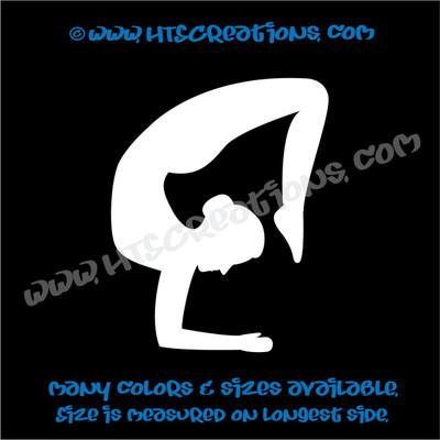 Yoga Pose Stretch OM OHM AUM Namaste Spiritual Vinyl Decal WHITE