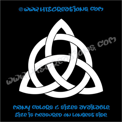 Celtic Trinity Knot Irish Dance Ireland Religious Church Triangle Vinyl Decal WHITE