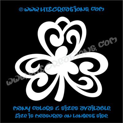 Shamrocks Celtic Irish Dance Ireland Luck Clover Vinyl Decal WHITE