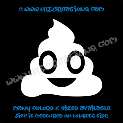 Dog Poop Cute Funny Emoji Vinyl Decal Sticker Rescue Canine