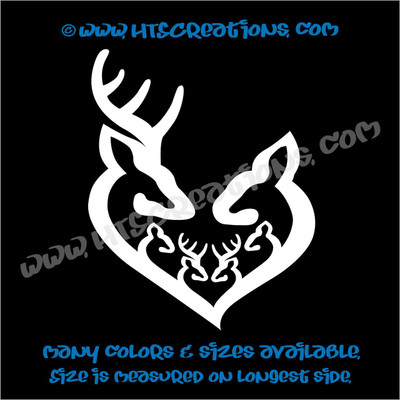Deer Doe Family Hunting Buck Elk Mom Dad 4 Kids Boys Girls Love Vinyl Car Truck Boat Decal Sticker WHITE