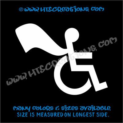 Wheelchair Handicap Super Hero Boy Special Needs Vinyl Decal Truck Laptop Tablet Vinyl Decal WHITE
