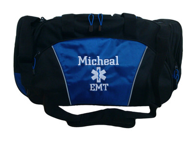 Star of Life ROYAL BLUE DUFFEL Ambulance First Responder EMT EMS Paramedic Medic RN Emergency Hospital Font Style CHICAGO