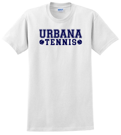 UHS Urbana Hawks TENNIS T-shirt Cotton Many Colors Available WHITE
