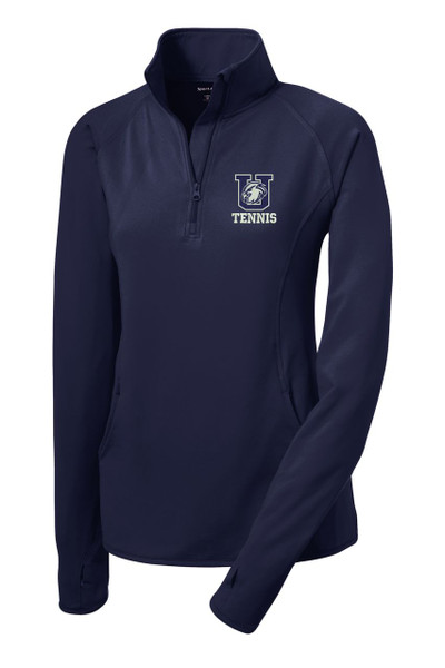 Urbana Hawks Half Zip Performance Stretch LADIES UHS TENNIS Sport Wick Polyester Spandex Many Colors Available NAVY
