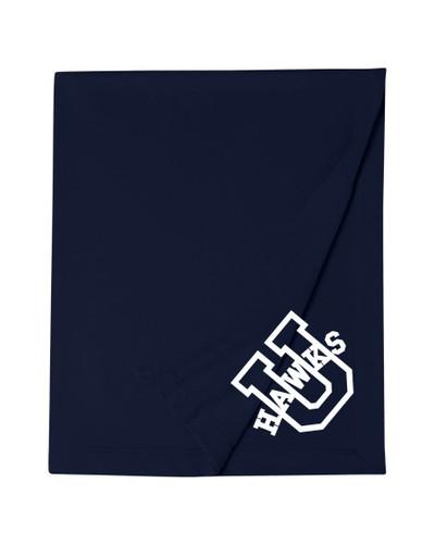 Urbana Hawks Cotton Sweatshirt Stadium Blanket 50x60 Many Colors Available  NAVY