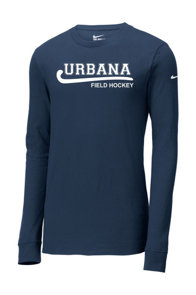Urbana Hawks NIKE FIELD HOCKEY T-shirt LONG SLEEVE Cotton Many Colors Available NAVY