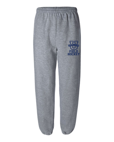 URBANA Sweatpants Cotton Elastic Cuff Bottom FIELD HOCKEY YOUTH SPORT GREY