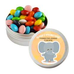 Baby Elephant  Birthday Twist Tins