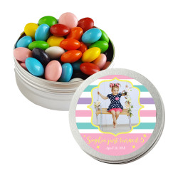Girly Stripes Birthday Twist Tins