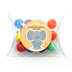 Baby Elephant Birthday Pillow Box