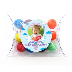 Cupcake Balloon Birthday Pillow Box