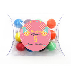 Pink Balloon Birthday Pillow Box