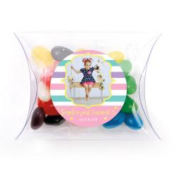 Girly Stripes Birthday Pillow Box