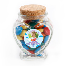 Cupcake Balloon Birthday Heart Glass Jar
