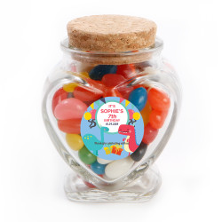 Dinosaur Birthday Heart Glass Jar