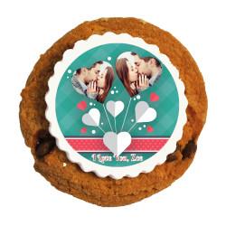 Hearts Valentine Printed Cookies