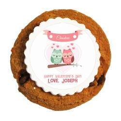 Lovely Owls Valentine Printed Cookies