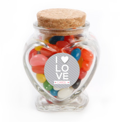 I ♥ Love Valentine Glass Jar