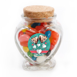 Hearts Valentine Glass Jar