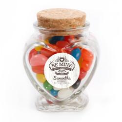 Be Mine Valentine Glass Jar
