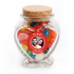 I Love You Valentine Glass Jar