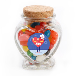 Lover Boy Valentine Glass Jar